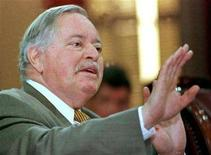 <p>Former Quebec Premier Jacques Parizeau answers a question during a public hearing at the National Assembly, in Quebec City February 9. Parizeau is to talk before a public hearing looking into Bill 99, the Clarity Act. DID/HB</p>
