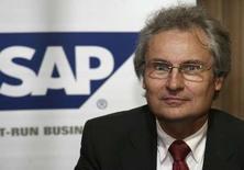 <p>Henning Kagermann, président du directoire de SAP. Waste Management a porté plainte contre le fabricant de progiciels allemand, estimant avoir dépensé en vain 100 millions de dollars dans des produits qui étaient censés générer des économies de coûts. /Photo prise le 18 février 2008/REUTERS/Fahad Shadeed/Files</p>