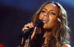 "<p>British singer Leona Lewis performs during the German TV show ""Wetten dass...?"" (Bet that..) in Halle March 1, 2008. REUTERS/Johannes Eisele</p>"