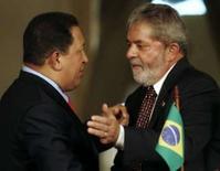 <p>Lula chama Chávez de pacificador;venezuelano questiona paz na AL. A OEA foi bem sucedida na mediação do recente conflito entre Colômbia e Equador, mas o presidente da Venezuela, Hugo Chávez, ainda vê ameaças à paz na América do Sul. 27 de março. Photo by Jamil Bittar</p>