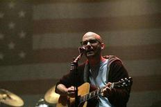 <p>Moby performs at the 'Bring Em Home Now!' concert in New York, March 20, 2006. REUTERS/Erin Siegal</p>