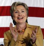 <p>Hillary Clinton em campanha em Indiana, 28 de março. Photo by Frank Polich</p>
