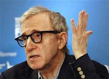 "<p>Director and writer Woody Allen gestures at a news conference for the movie ""Cassandra's Dream"" during the 32nd Toronto International Film Festival September 12, 2007. REUTERS./Mario Anzuoni</p>"