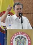 <p>O presidente da Colômbia, Alvaro Uribe, faz  discurso em San Jose del Guaviare, em 27 de março. Photo by Carlos Duran</p>