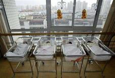 <p>Newborn babies are seen in a hospital in a file photo. REUTERS/Stringer</p>