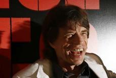 <p>Mick Jagger, des Rolling Stones. Le groupe de rock britannique et YouTube se sont associés pour lancer une nouvelle chaîne de divertissement à prédominance musicale sur le célèbre site de partage de vidéos. /Photo prise le 30 mars 2008/REUTERS/Lucas Jackson</p>