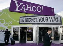 <p>Yahoo n'est pas opposé à l'idée d'un rachat par Microsoft mais il va réclamer à ce dernier un relèvement de son offre, apprend-on de source proche du dossier. /Photo prise le 7 janvier 2008/REUTERS/Steve Marcus</p>