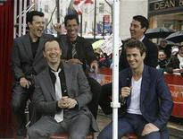 "<p>Members of the music group ""New Kids on the Block"", (L-R) Jordan Knight, Donnie Wahlberg, Danny Wood, Joe McIntyre and Jon Knight make an appearance on NBC's ""Today"" show in New York April 4, 2008. REUTERS/Brendan McDermid</p>"