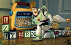 "<p>Undated publicity photo shows Buzz Lightyear using a toy to plan a daring rescue of his pal Woody in Disney/Pixar's new computer animated comedy adventure film ""Toy Story 2."" REUTERS/Handout</p>"