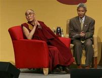 <p>The Dalai Lama, exiled spiritual leader of Tibet, takes part in a panel discussion on the Scientific basis for compassion at the University of Washington's Hec Edmundson Pavilion on the first day of the 5-day Seeds of Compassion gathering in Seattle, Washington, April 11, 2008. REUTERS/Marcus R. Donner</p>