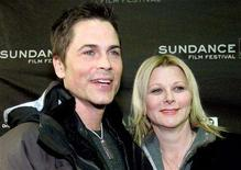 <p>Actor Rob Lowe (L) and his wife Sheryl arrive at the screening of his film 'Thank You For Smoking,' at the Sundance Film Festival in Park City, Utah in this January 21, 2006 file photo. REUTERS/Mario Anzuoni</p>
