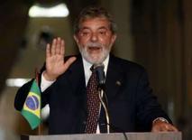 <p>Lula diz que PAC só funciona porque Dilma toma conta. O presidente Luiz Inácio Lula da Silva afirmou nesta quinta-feira em Belo Horizonte que o Programa de Aceleração do Crescimento (PAC) só funciona porque a ministra da Casa Civil, Dilma Rousseff toma conta. 27 de março. Photo by Jamil Bittar</p>