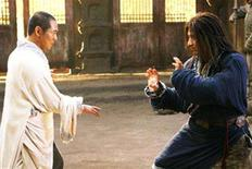 "<p>Jet Li and Jackie Chan in a scene from ""The Forbidden Kingdom"". REUTERS/Lionsgate Films</p>"