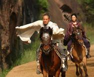 "<p>Jet Li and Liu Yifei in a scene from ""The Forbidden Kingdom"". REUTERS/Lionsgate Films</p>"