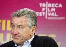 <p>Robert De Niro waits for the start of a media day regarding this year's Tribeca Film Festival in New York April 13, 2008. REUTERS/Lucas Jackson</p>