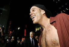"<p>Steve-O smiles at the world premiere of ""Jackass: Number Two"" at the Grauman's Chinese theatre in Hollywood, California September 21, 2006. REUTERS/Mario Anzuoni</p>"