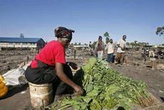 <p>Женщина продает овощи в Найроби 10 января 2008 года. Растущие цены на продукты питания превратились в настоящий мировой кризис, сказал генеральный секретарь ООН Пан Ги Мун в пятницу. (REUTERS/Noor Khamis/Files)</p>