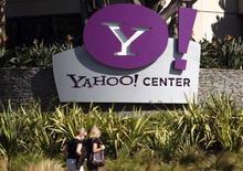 <p>Yahoo travaille actuellement à relier les douzaines de services proposés sur son site de façon à ce que les utilisateurs parviennent à réunir toutes leurs informations personnelles en un seul profil et à les partager plus facilement avec leurs amis via internet. /Photo prise le 3 octobre 2007/REUTERS/Lucy Nicholson</p>