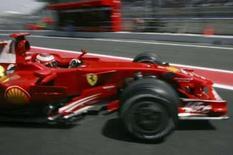 <p>Piloto da Ferrari Kimi Raikkonen durante treino livre para  o GP da Espanha, nesta sexta-feira, no Circuito da Catalunya. Photo by Dani Cardona</p>