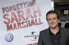 "<p>""Forgetting Sarah Marshall"" writer and cast member Jason Segel poses at the premiere of the film in Los Angeles April 10, 2008. REUTERS/Chris Pizzello</p>"