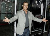"<p>Actor Mel Gibson arrives as a guest at the Los Angeles premiere of the film ""American Gangster"" in Hollywood, California October 29, 2007. REUTERS/Fred Prouser</p>"