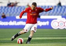 <p>Foto de arquivo do capitão da Roma Francesco Totti em partida da equipe no Campeonato Italiano, neste mês. Photo by Giampiero Sposito</p>