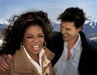 "<p>Talk show host Oprah Winfrey (L) and actor Tom Cruise are shown in this publicity photo taken April 25, 2008 and released to Reuters April 29, 2008, during an interview for 'The Oprah Winfrey Show' at Cruise's home in Telluride, Colorado. The taped interview will air May 2, 2008, and then Cruise will appear on Winfrey's Chicago set May 5, 2008 to celebrate his 25 years in the film industry since his breakout role in ""Risky Business."" REUTERS/Copyright 2008 Harpo Productions, Inc./All Rights Reserved/Handout</p>"
