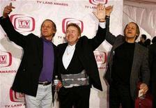 <p>Musicians Jim Hager, Roy Clark and Jon Hager arrive at the taping of the 5th Annual TV Land Awards in Santa Monica, California April 14, 2007. REUTERS/Max Morse</p>