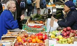 <p>Un mercato a Roma. REUTERS/Max Rossi</p>