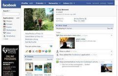 <p>Un profilo Facebook in un'immagine d'archivio. REUTERS/Facebook/Handout</p>