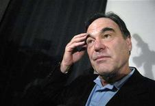 <p>Film-maker Oliver Stone is interviewed at a news conference in Santa Monica, California May 3, 2007. REUTERS/Phil McCarten</p>
