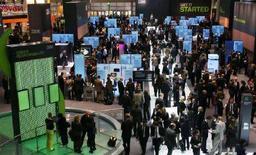 <p>Mostra IBM nella città settentrionale di Hanover, il 4 marzo 2008. REUTERS/Morris Mac Matzen</p>