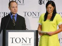 <p>Actors David Hyde Pierce and Sara Ramirez announce the nominees for the 62nd Annual Tony Awards in New York May 13, 2008. REUTERS/Brendan McDermid</p>
