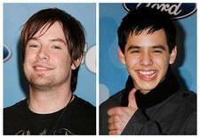 "<p>""American Idol"" finalists David Cook (L) and David Archuleta are shown in a combination photo from files taken March 6, 2008 in Los Angeles. REUTERS/fred Prouser/Files</p>"