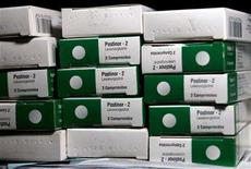 "<p>Boxes of the contraceptive Postinor-2, known as the ""morning-after pill"", are seen inside a safe in a public health clinic in Santiago September 22, 2006. REUTERS/Ivan Alvarado</p>"