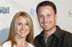 """<p>Chris Harrison (R), host of ABC's """"The Bachelor"""" and """"The Bachelorette"""", and his wife Gwen arrive for Tiger Jam IX at the Mandalay Bay resort in Las Vegas, Nevada, April 29, 2006. REUTERS/Steve Marcus</p>"""