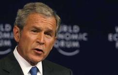 <p>Presidente norte-americano George W. Bush fala durante o Fórum Econômico Mundial em Sharm El-Sheikh. Photo by Ammar Awad</p>