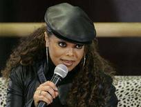 "<p>Janet Jackson speaks to students during a promotional event at a dance school in Tokyo April 10, 2008. Jackson said on Monday she will hit the road for the first time in seven years with the Canadian launch in September of her ""Rock Witchu"" arena tour through North America. REUTERS/Michael Caronna</p>"