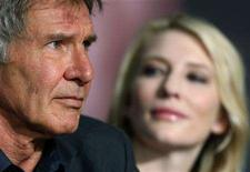 "<p>Cast members Harrison Ford (L) and Cate Blanchett attend a news conference for the film ""Indiana Jones and the Kingdom of the Crystal Skull"" by Steven Spielberg at the 61st Cannes Film Festival May 18, 2008. REUTERS/Jean-Paul Pelissier</p>"