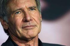 "<p>Cast member Harrison Ford attends a news conference for the film ""Indiana Jones and the Kingdom of the Crystal Skull"" by U.S. director Steven Spielberg at the 61st Cannes Film Festival May 18, 2008. REUTERS/Jean-Paul Pelissier</p>"