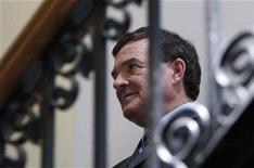 <p>Canada's Finance Minister Jim Flaherty waits to testify before the Commons public accounts committee on Parliament Hill in Ottawa in this May 13, 2008 file photo. REUTERS/Chris Wattie</p>