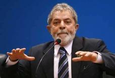 <p>O presidente brasileiro, Luiz Inácio Lula da Silva, durante coletiva de imprensa em Brasília. Em meio a discussões sobre a recriação da CPMF, Lula reclamou dos empresários que não alteraram os preços de seus produtos com o fim da CPMF no final do ano passado. Photo by Stringer</p>