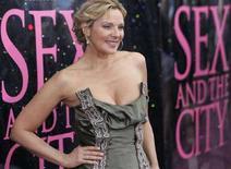 """<p>Kim Cattrall alla prima newyorchese di """"Sex And The City"""". REUTERS/Joshua Lott (UNITED STATES)</p>"""