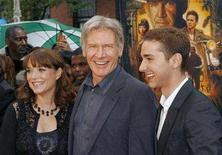 "<p>Cast members Karen Allen, Harrison Ford, and Shia LaBeouf arrive for a screening of the film ""Indiana Jones and the Kingdom of the Crystal Skull"" by Steven Spielberg in New York May 20, 2008. REUTERS/Lucas Jackson</p>"