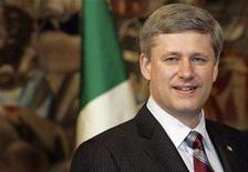 <p>Prime Minister Stephen Harper is seen during a meeting at Chigi Palace in Rome May 28, 2008. REUTERS/Dario Pignatelli</p>