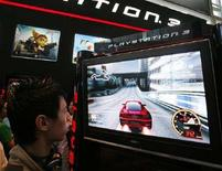 <p>Un gioco per la Playstation di Sony all'It Show di Singapore, il 7 marzo 2008. REUTERS/Vivek Prakash (Singapore)</p>