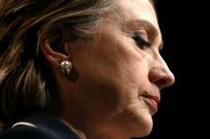 <p>Hillary Clinton falando ao Comitê Americano de Assuntos Públicos de Israel, em Washington, 4 de junho. Ela declarará seu apoio a Barack Obama no sábado. Photo by Kevin Lamarque</p>