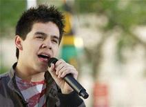 "<p>American Idol finalist David Archuleta performs on NBC's ""Today"" show in New York May 29, 2008. REUTERS/Brendan McDermid</p>"
