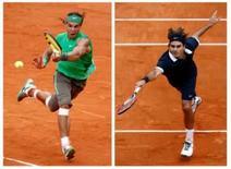 <p>Borg aposta que Federer pode parar Nadal em Roland Garros. O ex-tenista Bjorn Borg acredita que Roger Federer tem a chance de acabar com o reinado de três anos de Rafael Nadal no Aberto da França, no domingo. 7 de junho. Photo by Pascal Rossignol</p>