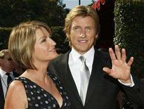 <p>Emmy-nominated actor Denis Leary and his wife Ann arrive at the 59th Primetime Emmy Awards in Los Angeles, California September 16, 2007. REUTERS/Mario Anzuoni</p>